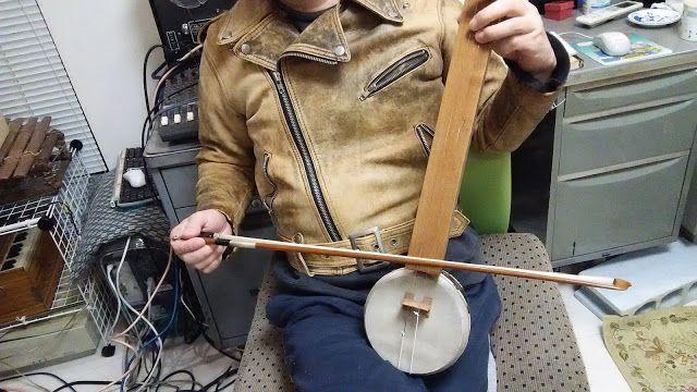 自作楽器研究所|Homemade Instruments: 動画:バンジョー・バイオリン, 龍鼓 and Akai 4000DS MK2(Sound on So...