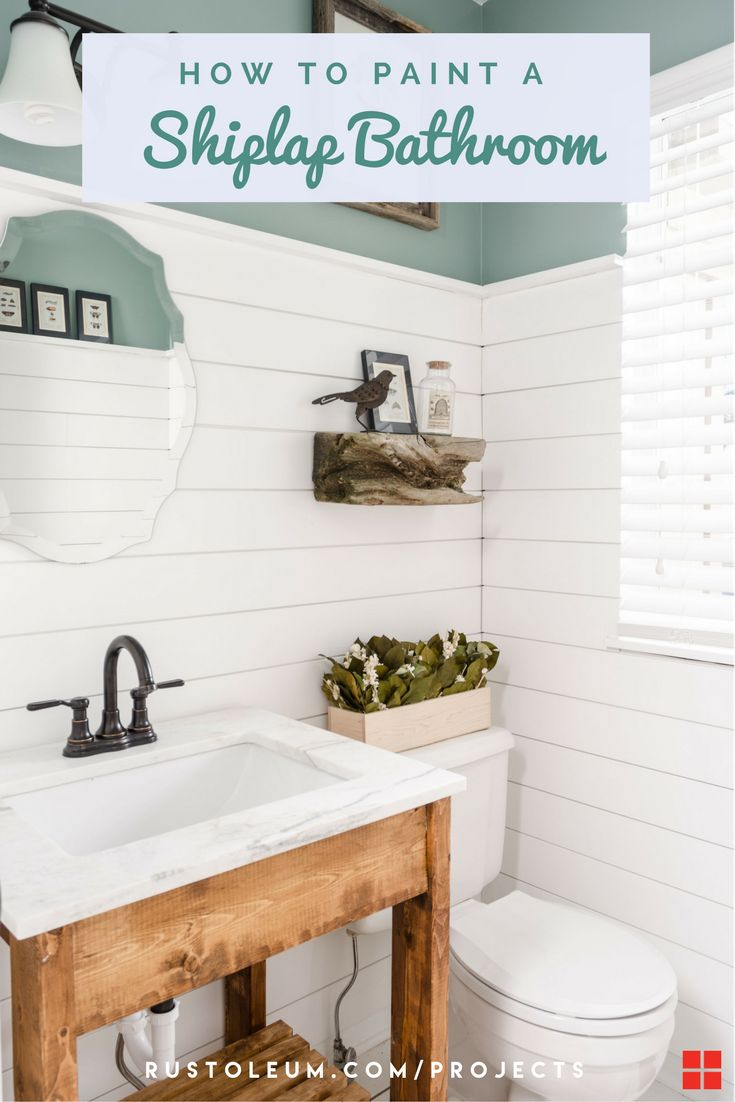 This DIY shiplap is perfect for your bathroom, kitchen, bedroom, living room, or mudroom. Learn how to paint ship lap with Zinsser PERMA-WHITE Interior Paint for a bright white fixer upper. This shiplap wall is so easy and cheap to paint, and is the perfect addition it your small bathroom. Create a shiplap wall in your own home for the perfect modern farmhouse rustic vibes.
