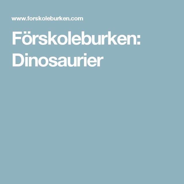 Förskoleburken: Dinosaurier