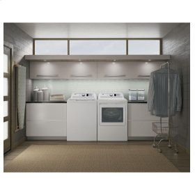 GE® 7.4 cu. ft. capacity aluminized alloy drum electric dryer with HE Sensor Dry HE Sensor Dry  Keep your clothes looking and feeling their best. Dual thermistors continually monitor temperature with a sensor bar that measures moisture to prevent over-drying   Up to 120 ft. venting capability Provides flexible installation   Extended Tumble Tumble clothes without heat to help prevent creasing and wrinkling   ENERGY STAR® qualified Meets or exceeds federal guidelines for energy efficiency for…