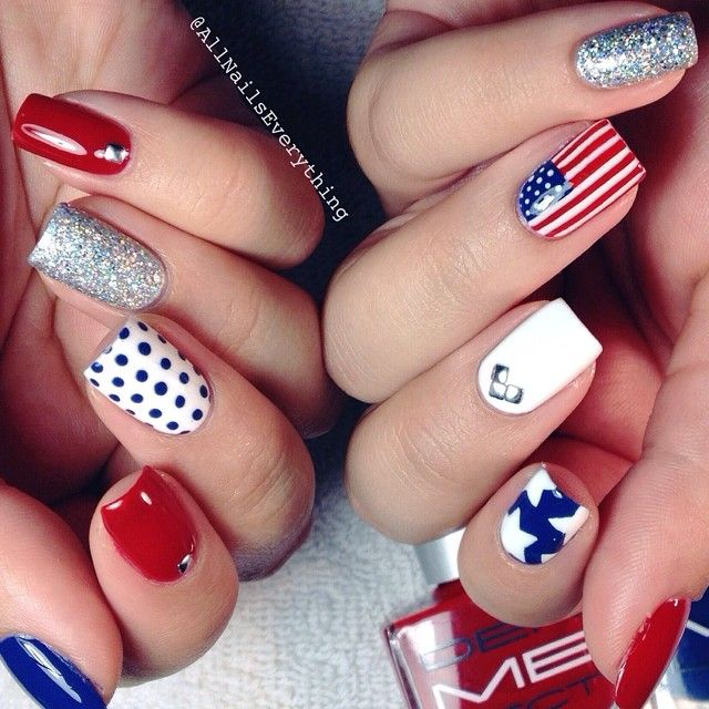 Best 25 usa nails ideas on pinterest american nails 4th of team usa4th of july inspired nails i used dermelects red prinsesfo Choice Image