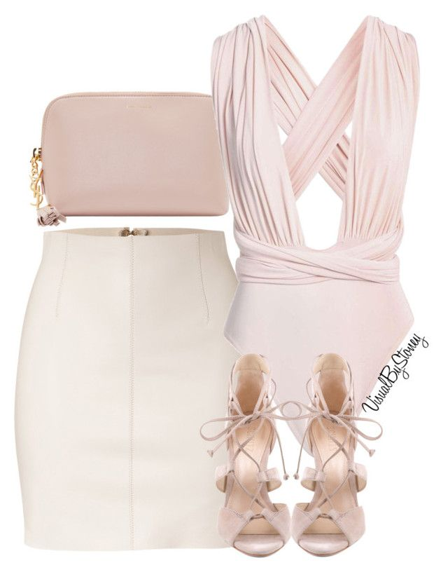 """""""Untitled #835"""" by fashionaffiliated on Polyvore featuring Yves Saint Laurent, Dsquared2 and Schutz"""