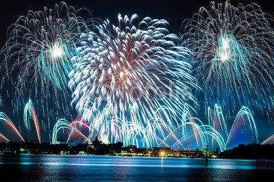 Fireworks celebrarion Redentore (venice, Italy)© gheaghitu