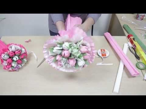 Тюльпан из конфет. Видео мастер-класс. Tulip Candy master class - YouTube