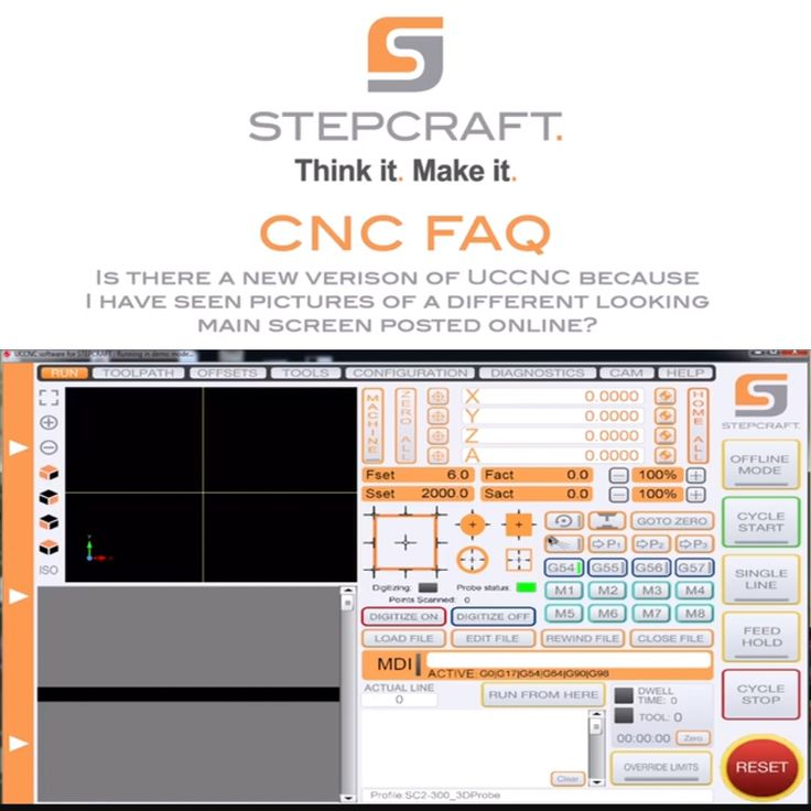 """Today's CNC FAQ- """"Is there an update for UCCNC, because I saw a screenshot of a current machine and the software looks different than what I have?"""" For more information or to read more FAQ's, please visit  www.stepcraft.us/cncfaq  https://youtu.be/vy9tcyD5ANc  #woodworking #create #maker #woodenart #cncowners #stepcraftcnc #cncrouter #ThinkItMakeIt #uccnc"""