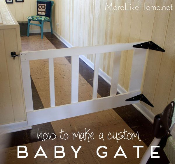 Build Your Own Custom Swinging Baby Gate With This