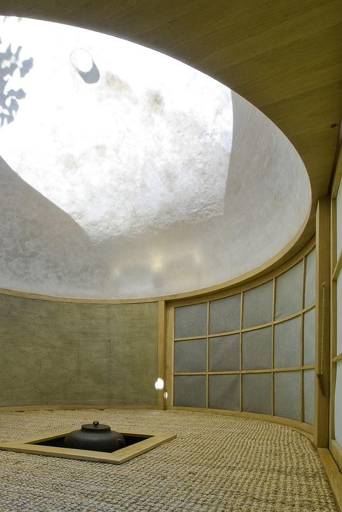 Interior dome of the charred wood teahouse in Prague | Czech architecture firm A1Architects