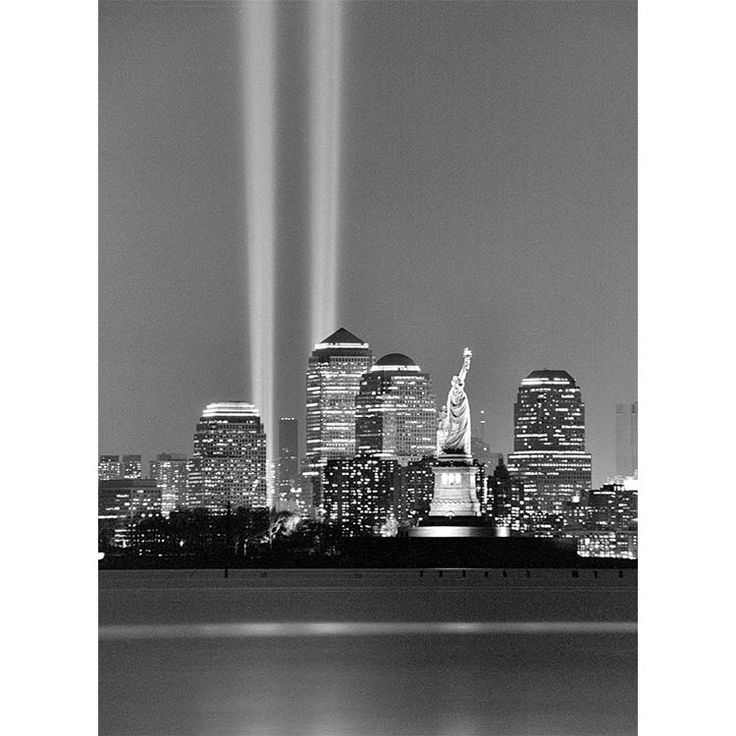 Tribute in Light black and white photograph by Alex Leykin fine art giclée print for sale. This New York artwork is printed on exhibition quality metallic paper. Two sizes available of this New York artwork print. Prices start from $30.00.
