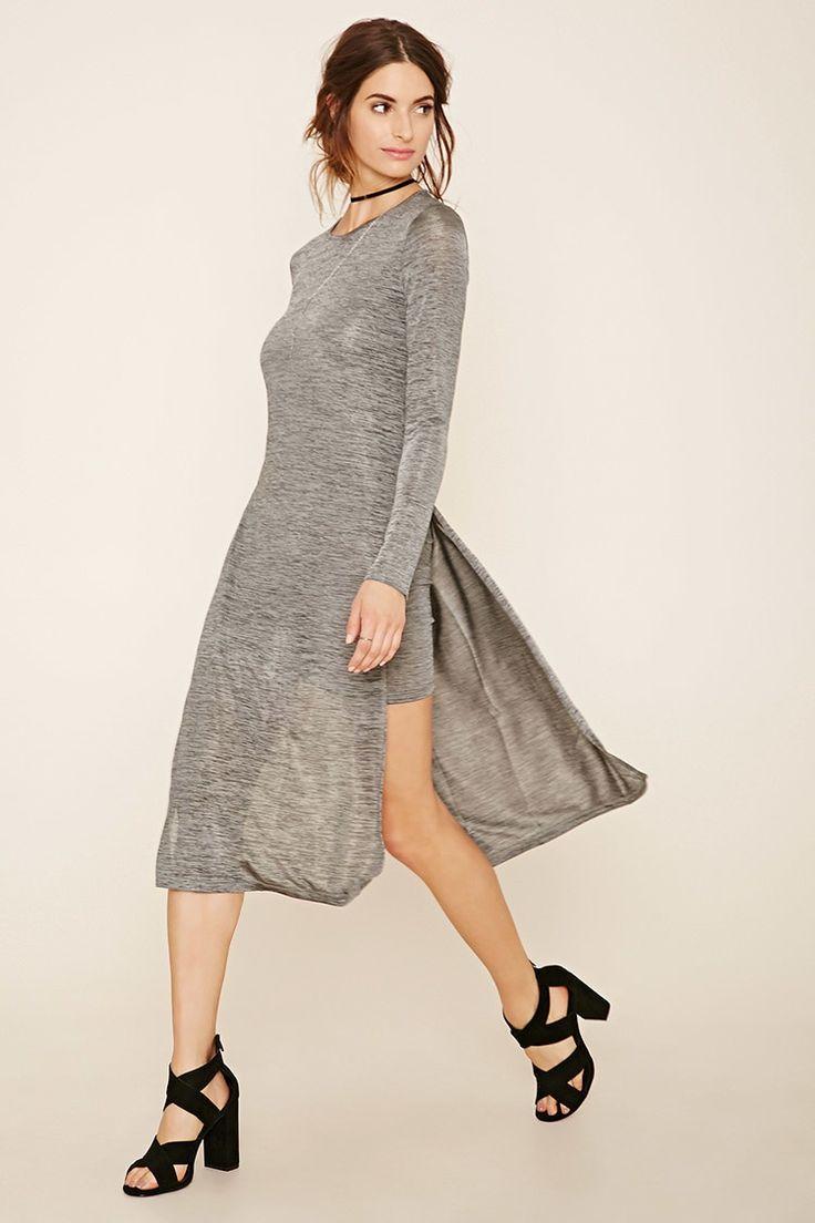 Layered Stretchy Marled Dress