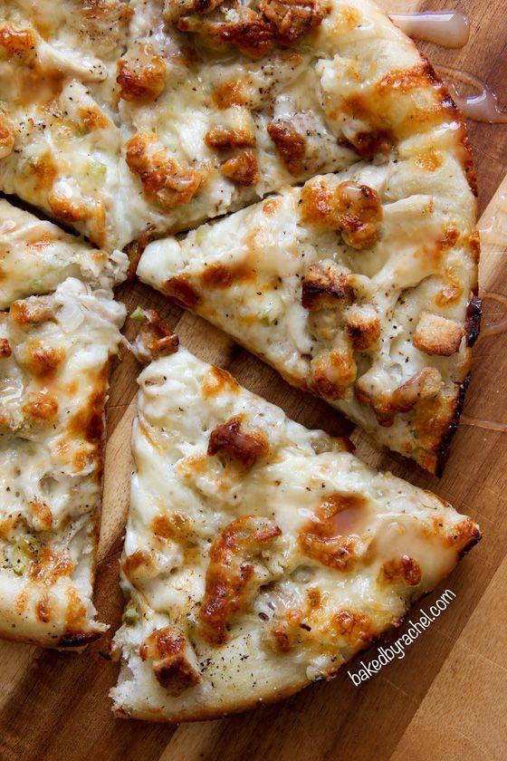 Leftover Thanksgiving pizza recipe from /bakedbyrachel/