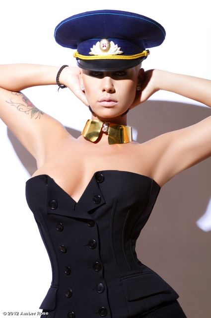 Amber Rose gorgeous style. Sexy sailor hat <3