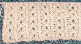 Knitting Galore: Saturday Stitch: Twisted Open Rib Stitch