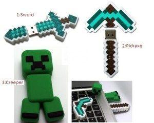 Pendrives de Minecraft. 16GB de capacitat. Amb una bossa Minecraft de regal. 3 models disponibles. --- Pendrive de Minecraft. 16GB de capacidad. Con bolsa Minecraft de regalo. 3 modelos disponibles. #vinil #minecraft #pendrive