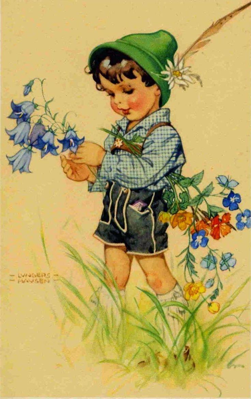 Украсить открытку, старые открытки рисованные