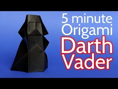 How to Make an Origami Darth Vader from Star Wars in 5 minutes - Tutorial (Stéphane Gigandet) - YouTube