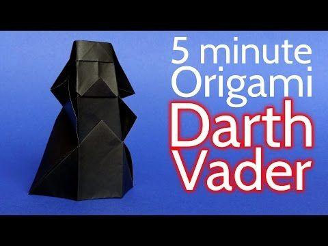 Como Fazer um Origami Darth Vader de Star Wars em 5 minutos - Tutorial (Stéphane Gigandet) - YouTube