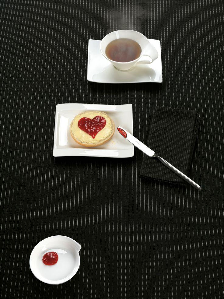 Snídaně s trpělivě tvarovaným srdcem