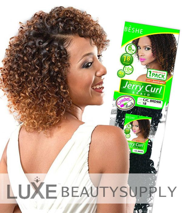Crochet Braids Edmonton : Beshe Jerry Curl Crochet Braiding Hair Crochet Braids, Jerry O