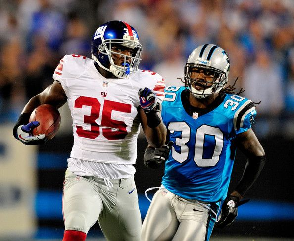 NYG vs. Panthers images - 9/20/2012  Andre Brown