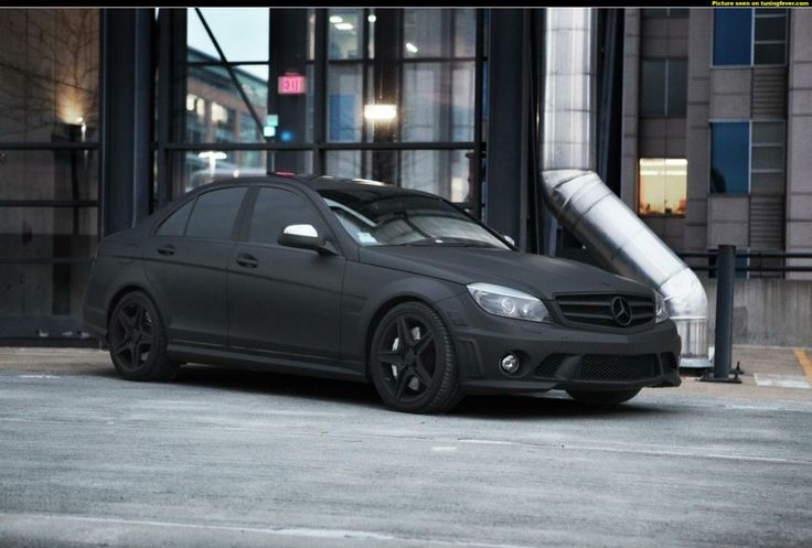Mercedes benz c63 amg matte black toys pinterest for Matte black mercedes benz