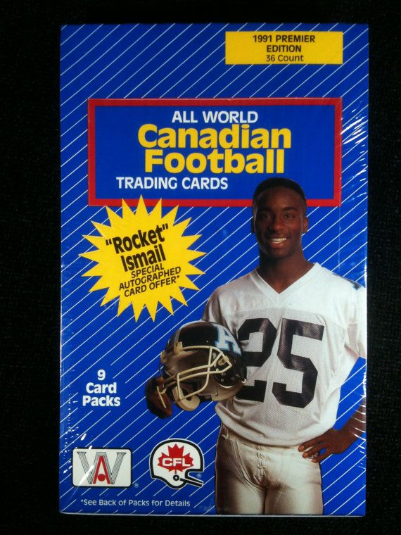 Vintage 1991 Canadian Football Trading Cards by vintagestuff51