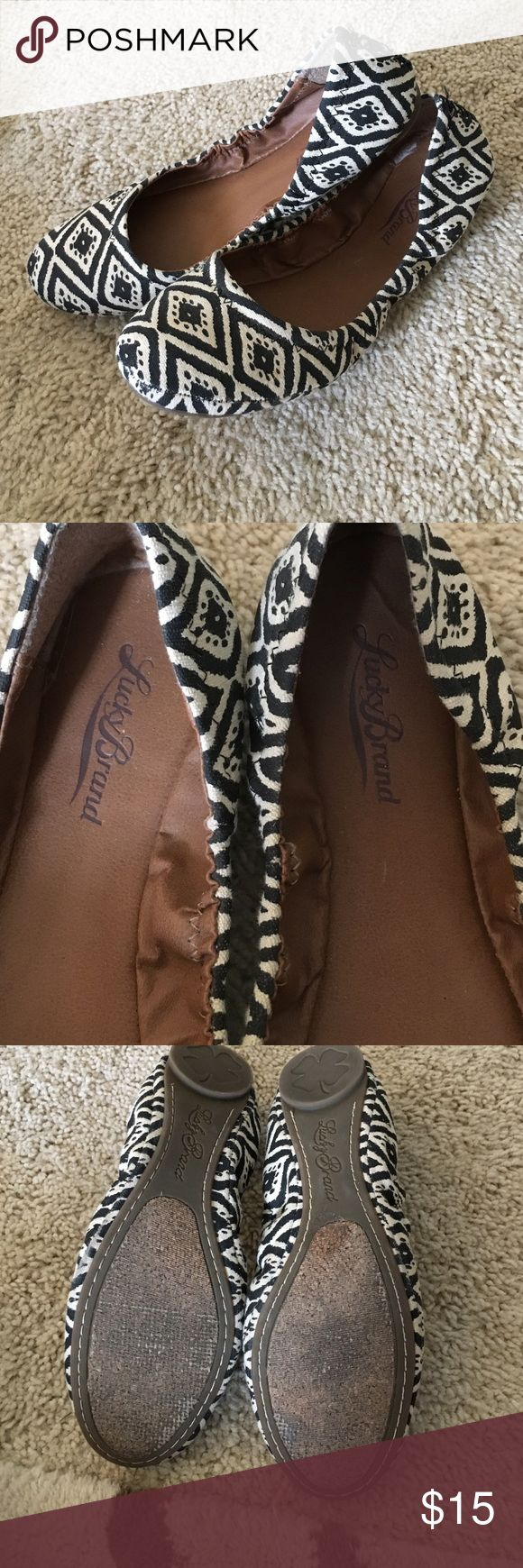 Black and cream flats Woven flats in Aztec style by Lucky Brand Lucky Brand Shoes Flats & Loafers