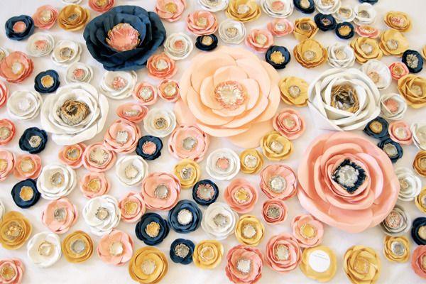 love the color scheme: Color Perhap, Paper Flower Tutorials, Flower Color, Handmade Flower, Paper Flowers, Beaches Color, Color Idea, Flower Paper, Flower Decoration