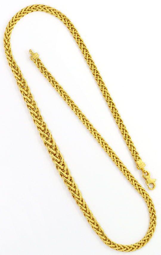Foto 3, Goldkollier Zopfkette im Verlauf Kette Gelbgold 14K/585, K2504