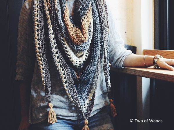 Coffee Shop Wrap - free pattern after underwriting-  knot your nana's crochet blog