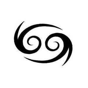 Cancer zodiac symbol Art