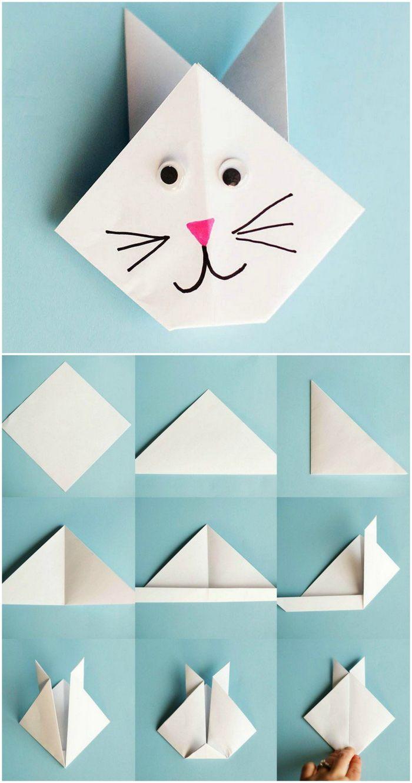 les 25 meilleures id es de la cat gorie chat en origami. Black Bedroom Furniture Sets. Home Design Ideas