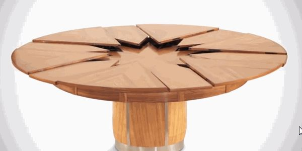 Ausziehbare Tisch Massivholz Rund Innovativ 6 12 Personen Schnell