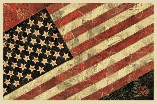 Shepard Fairey FLAG 1 OFFSET