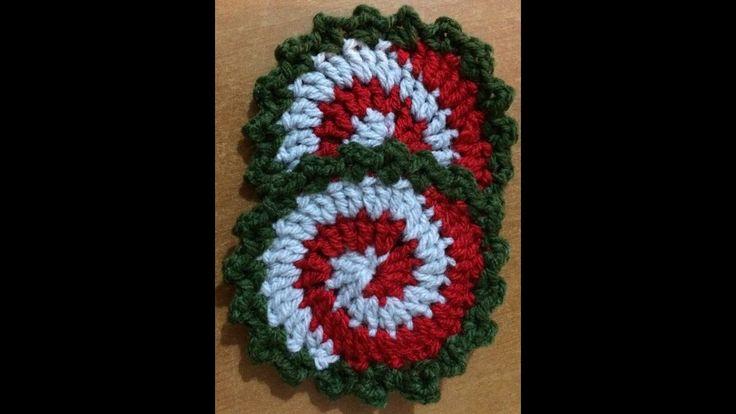 -Πως πλέκω ενα σπιραλ σουβερ- spiral christmascoaster