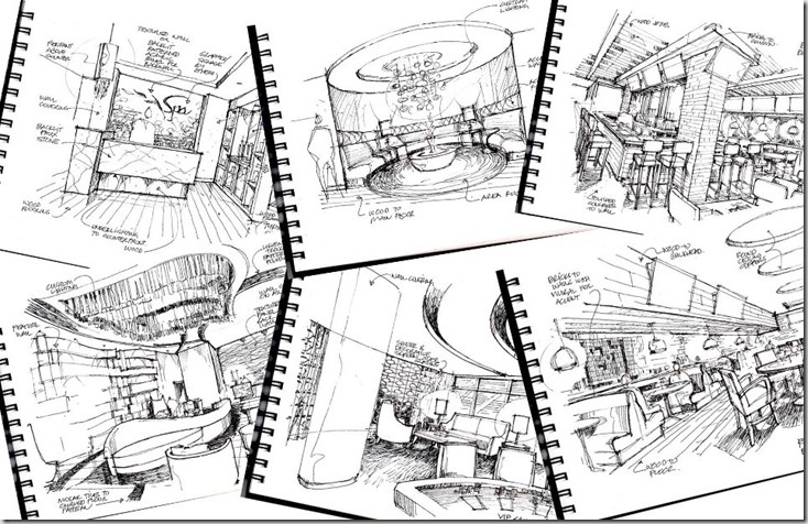 concept sketches for a hotel interior design project sketchbook httpsketchpadstudiocomwpp70 sketches pinterest sketchbooks sketches and