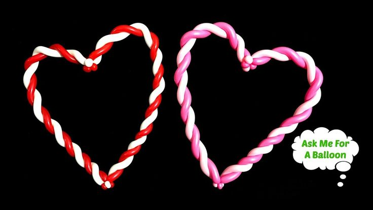Two hearts made with two twisters for two lovers twisted in love!
