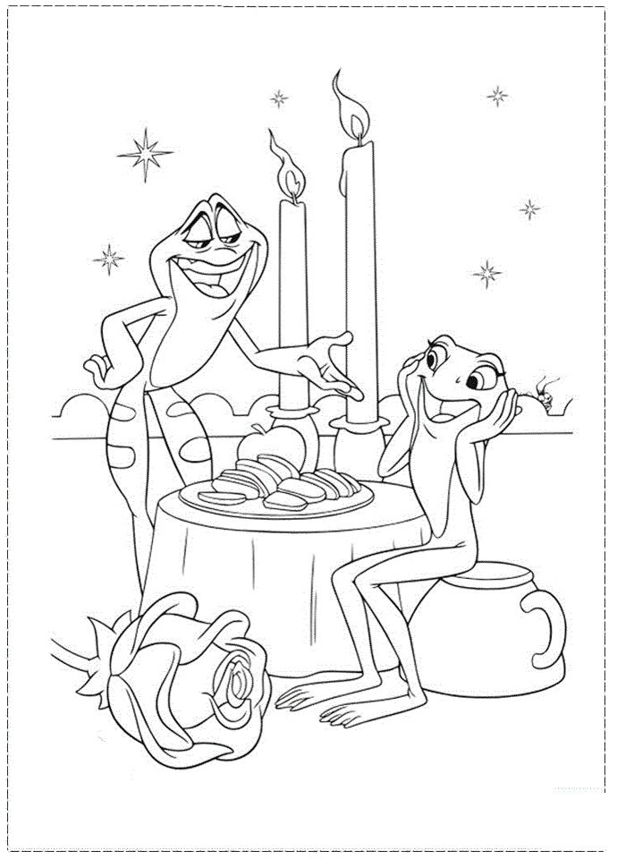 the frog prince coloring pages - photo#19
