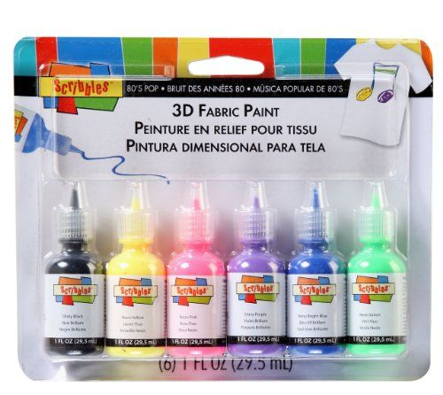 Scribbles offer the best Scribbles Dimensional Fabric Paint 6/Pkg - 80'S Pop.