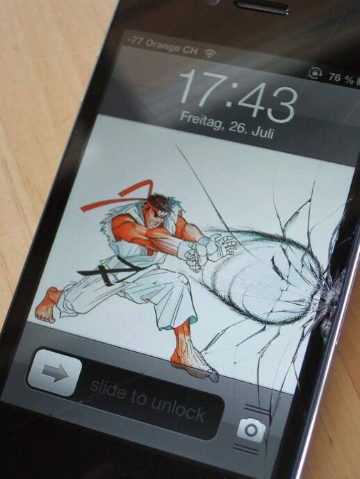 Not so funny when it happens - cracked screens - I drop the phone daily grrrrr