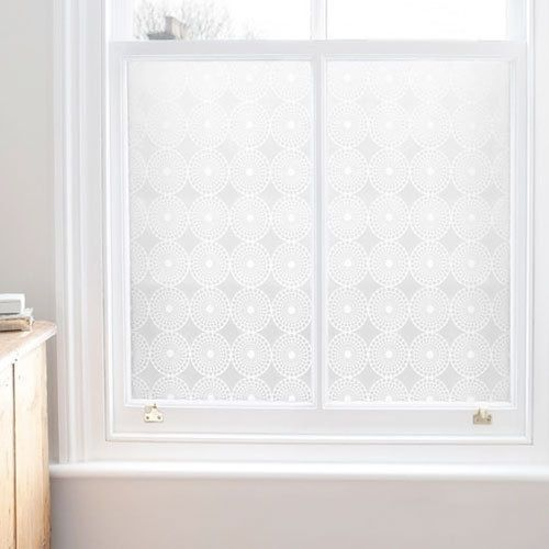 We recently moved into a new place where the previous tenant had contact-papered the bathroom windows, and a stubborn layer of glue just doesn't want to come off. We've been looking into more easily removable window films, and we've found a bunch of options — from inexpensive to pricey, basic to baroque.