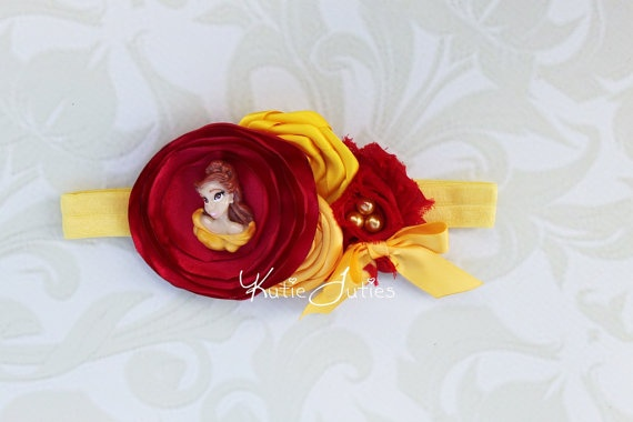 The Belle Headband Yellow Red Rose Belle Beauty and the ...