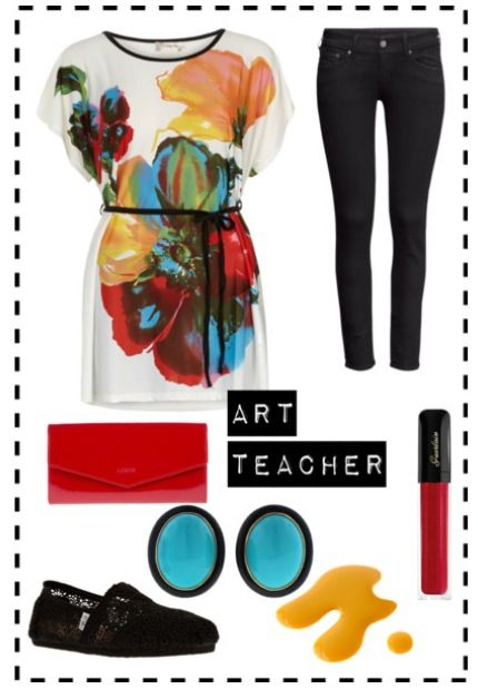 Art teacher outfit- soooo wish I actually had this outfit