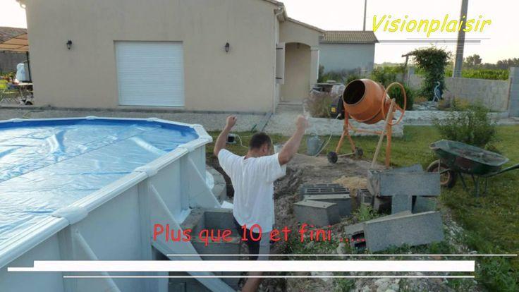 Oltre 25 fantastiche idee su piscine hors sol acier su for Installation piscine hors sol