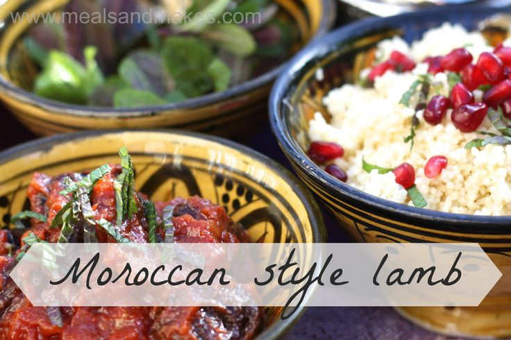 Family friendly Moroccan style lamb with ruby cous cous.