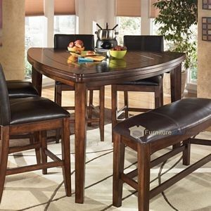 larchmont rustic dark brown triangle dining room counter