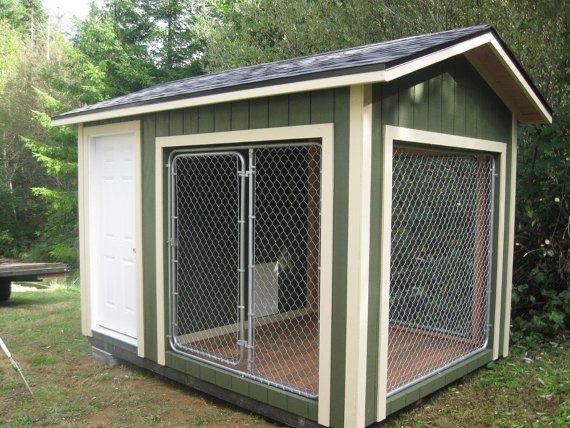 Perrera k9 de 8 x 12 con casa de perro de por backyardbuildingsllc
