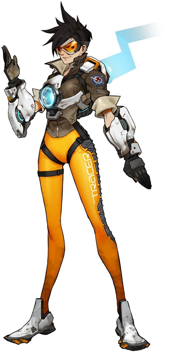 Overwatch - Tracer Concept, Arnold Tsang on ArtStation at http://www.artstation.com/artwork/overwatch-tracer-concept