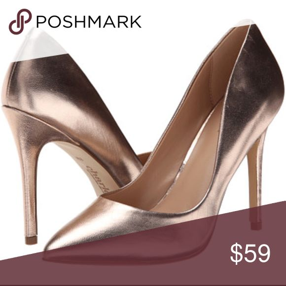 """Charles David rose gold heels These are gorgeous, trendy color, rose gold heels with tons of character and in great condition! One small scuff toward the back of one of the heels (pictured), but in otherwise immaculate condition. 3.5"""" heel Charles David Shoes Heels"""