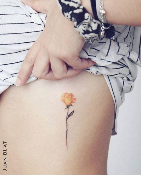 c684c3cff41b9 tiny yellow rose tattoo   Tattoos<3   Yellow rose tattoos, Rose ...