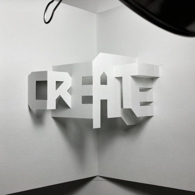 #Make something every day. #create #popup #typography #paper #crafts #handmade…